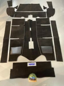 Jensen Healey Cockpit Carpet Set in Black - newly manufactured