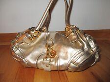 JUICY COUTURE Gold Cowhide Leather Hobo Satchel Handbag
