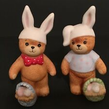 Lucy & Me/Lucy Rigg 2 Bears in Bunny Ears; Free Priority Shipping!