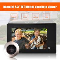 "4.3"" TFT LCD Mirilla Digital Timbre De Puerta Vídeo Cámara Espectador Monitor Se"