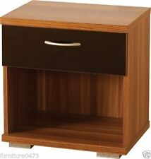 Wood 45cm-50cm Bedside Tables & Cabinets with Shelves