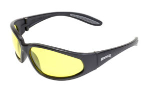 Unbreakable Yellow Tinted motorcycle  sunglasses biker glasses + Pouch & Postage