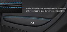 Punto azul 2x Puerta Trasera Descansabrazos Skin cubre encaja Fiat Grande Punto 05-11 3 Dr