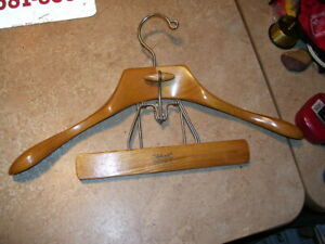 Vintage Wood Setwell Men's Suit Pants Clothes Hanger