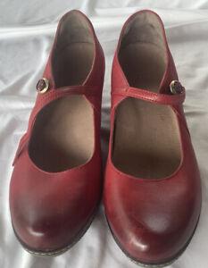 Dansko Women's Red Loralie Mary Jane Shoes 38 6900221200