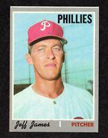 """1970 Topps #302 Jeff James Philadelphia Phillies Baseball Card EX/MT  """"mrp"""""""