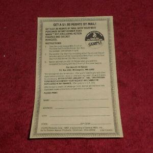 1982 Kenner Star Wars Toy $1 Mail Rebate Form General Mills CPG