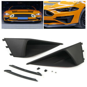 For Ford Mustang 2018-2020 Accessories Side Bumper Corner Fog Vent Arch Wing