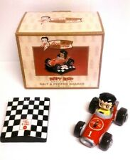 Vandor 2000 Coca Cola Betty Boop Racing Car Salt and Pepper Shaker model #11331.