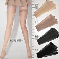 1/6 Female Socks Stockings Long chiffon silk hoses fit 12'' TBLeague JO Figue