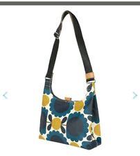Orla Kiely blue scalloped floral print mini sling bag