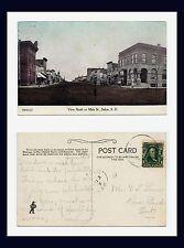 SOUTH DAKOTA SALEM VIEW NORTH ON MAIN STREET 1908 TO BEAR CREEK, ONTARIO