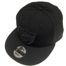 New Era NFL Oakland Raiders All Black Shield Logo Snapback Cap 9Fifty NewEra