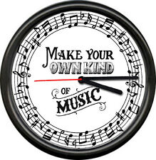 Music Room School Teacher Piano Notes Make Your Own Musician Sign Wall Clock