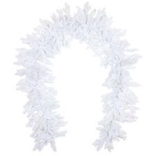 Künstliche weiße Tannengirlande 270cm Nordmanntanne PE Spritzguss Nadeln;PG02W2