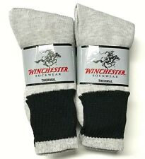 6 Pair Men's Gray Thermal Boot Outdoor Work Hiking Boot Sock Size10-13.USA