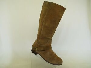 UGG Brown Suede Buckle Knee High Riding Fashion Boots Size 9.5