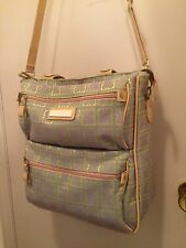 Luggage Travel Case Rare Liz Claiborne Casa Blanca Lime Green & Gray