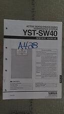 Yamaha yst-sw40 Service Manual Original Reparatur Buch aktiver Subwoofer