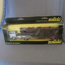 717D Rare Solido 385 Transport de Chevaux 1:50 Saviem