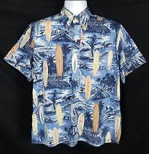 Vtg Reyn Spooner Hawaiian Shirt Men's M Short Sleeve Button Front Cotton Surf