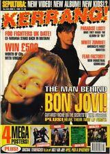 Jon & Richie of Bon Jovi on Kerrang Cover 1995   Poison  Rob Halford  Metallica