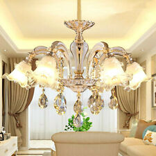 Luxury LED Jade ZINC ALLOY BODY CRYSTAL CHANDELIER PENDANT LAMP CEILING LIGHTS