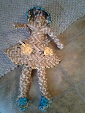 15in handmade straw doll.made in bahamas.Beautiful earth Tone  Colors