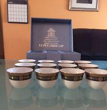 12 Qahwa Cups Arabic/ Espresso Coffee Shots in Gift Box Ceramic Small ~Free Ship