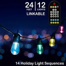 Mr. Christmas Holiday Cafe' Lights - 14 Holiday Light Sequences - 12 Lights