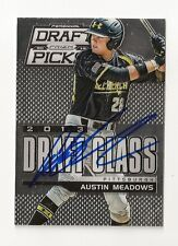 2013 PRIZM DRAFT CLASS AUSTIN MEADOWS AUTOGRAPH CARD #109 SIGNED IN PERSON