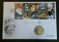 GB 2003 Coronation Anniversary PNC Cover £5 Coin Brilliant Uncirculated BU