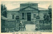 Ethiopia Italy Occupation Addis Abeba - Banks 1936 sepia postcard