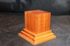 1.75x1.75x2.5 Hand Made Wooden base for figures/miniatures - Solid Mahogany wood