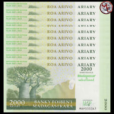 Madagascar - 2.000 Ariary 2007 - Pick- 93 - COMMEMORATIVE - Set 10 PCS - UNC