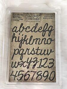 Tim Holtz Idealogy Cling Foam Stamps Cutout Script Lower Case Alphas 38 Pieces