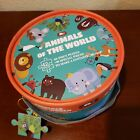 MiniWhale Animals of the World 42 pc Puzzle 3D Map + 16 Special Pc with Case NIB