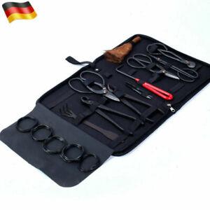 10x Bonsai Werkzeug Set Carbon Steel Umfangreiche Kit Cutter Schere Garten DE