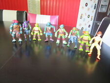 8 TEENAGE MUTANT NINJA TURTLE ACTION FIGURES TMNT 7 TURTLES & 1988 PRESS GIRL