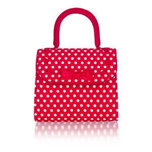 Ruby Shoo Women's Red Spots Santiago Fabric Top Handle Bag (Matches Hayley