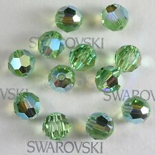 100 pieces Swarovski Element 5000 4mm Round Ball Beads Crystal Peridot AB *SALE*