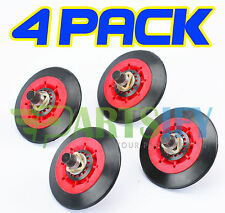 4 PACK NEW! 4581EL3001A DRYER DRUM ROLLER WHEEL & SHAFT KIT FOR LG KENMORE SEARS