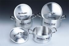 HIGH QUALITY 6 PC ALUMINIUM  STOCK POT SAUCEPAN CASSEROLE SET BY KITCHEN KING®