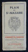 A21) CARTE (ancienne) PLAN DE ST-NAZAIRE édition de 1954