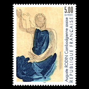 France 1990 - Painting by Auguste Rodin Art - Sc 2211 MNH