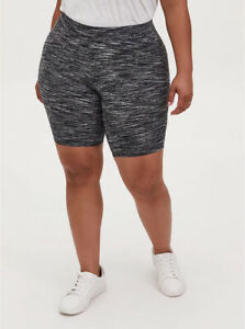 Torrid Bike Short Space Dye Bicycle Biker High Waist Gray Black Plus Sz 2 18 20