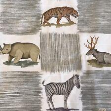 """Waverly  Cabin Kids Valance Animals Safari Giraffe Rhino Zebra 81""""L X 16 1/2"""""""