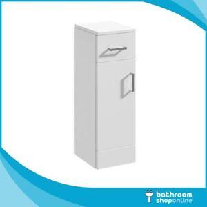 Bathroom Cloakroom Vanity Furniture Storage Units Gloss White 250mm Door & Draw