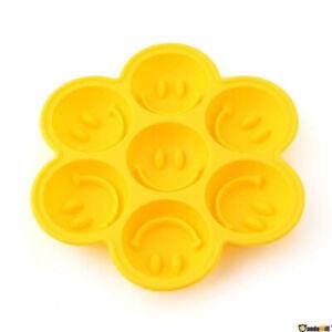 Smiley Pralinen Form Silikon Esiwürfel 7x Schokolade Fontant Muffin Backen NEU