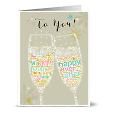 24 Note Cards - Wedding Cheers to You! - Gray Envs